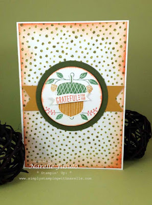 Narelle Fasulo - Independent Stampin' Up! Demonstrator - Acorny Tahnkyou
