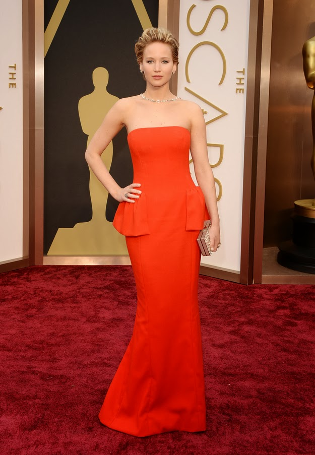 Jennifer Lawrence in Dior at the Oscars