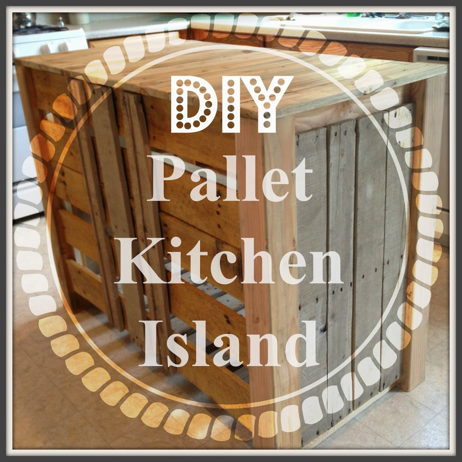 Noting grace diy pallet kitchen island for less than 50 for Pallet kitchen ideas