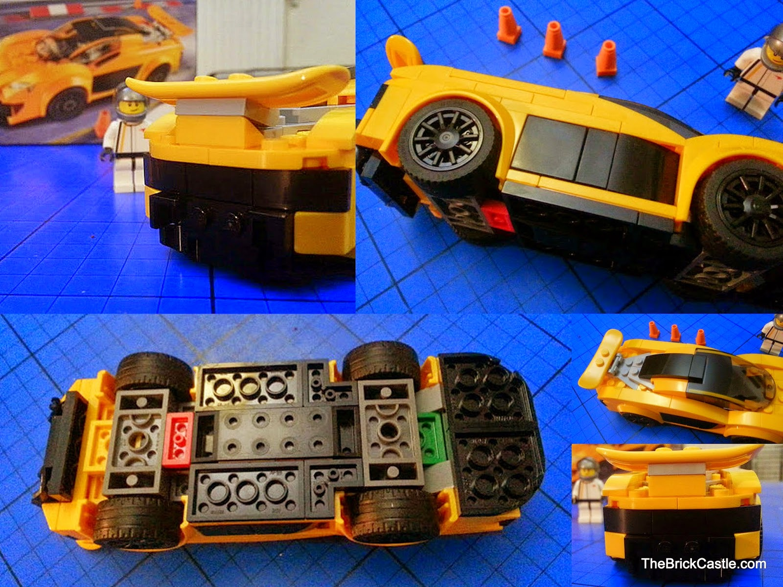 LEGO Speed Champions McLaren P1 set 75909 build complete underside