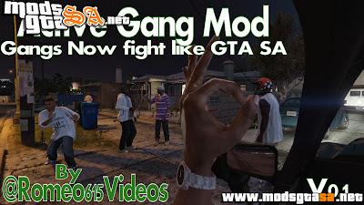 V - Mod Ativar Gangs para GTA V PC
