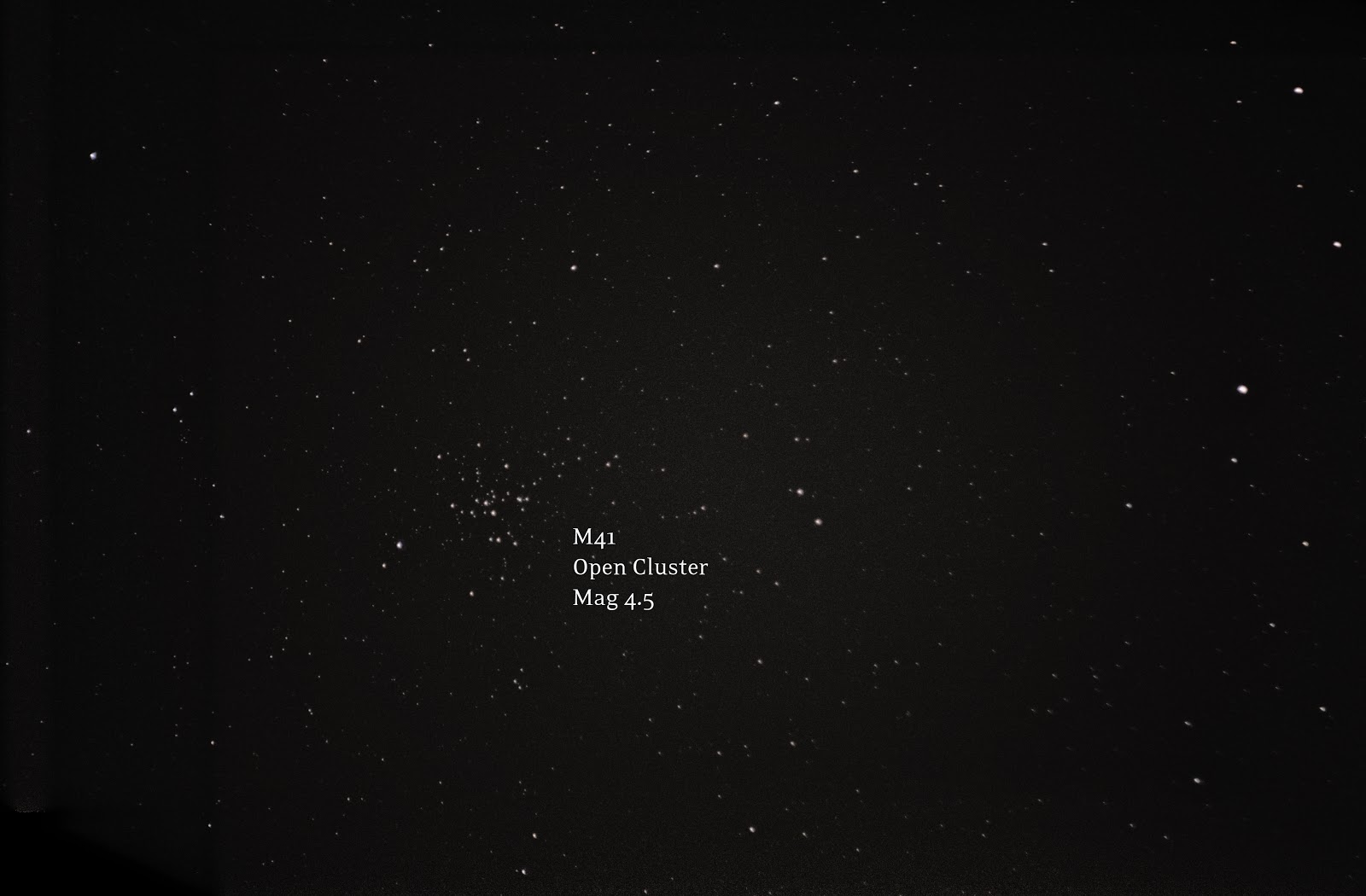 M41, open cluster in Canis Major