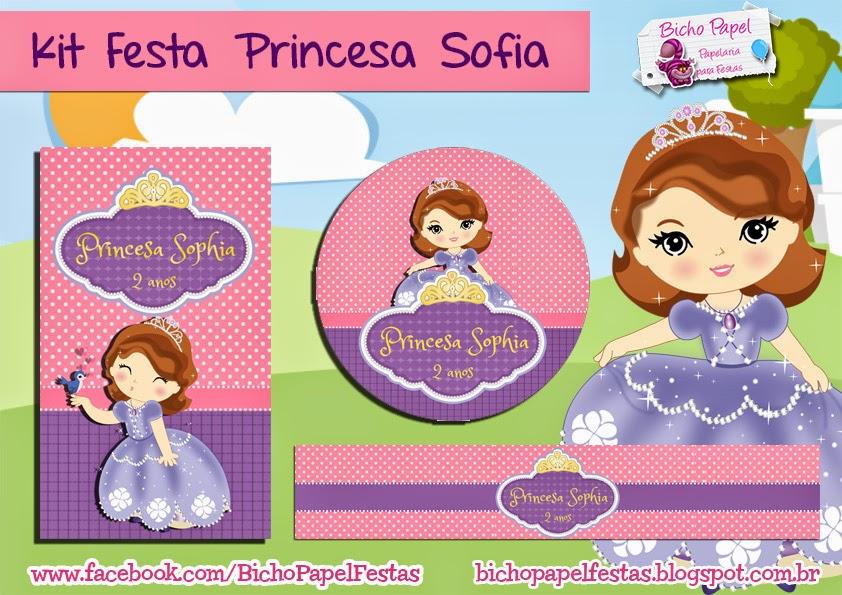 Kit Festa Princesa Sofia