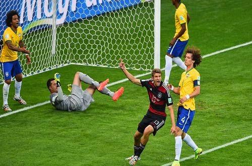 اهداف مباراة المانيا و البرازيل