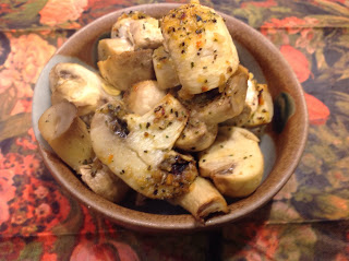 Lemon Roasted Mushrooms with Herbs from Gluten Free A to Z