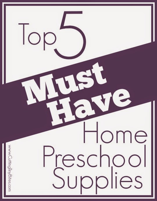 Top 5 must have homeschool preschool supplies. Don't get overwhelmed-- just start with a few quality resources.
