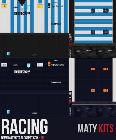 PES 2013 Racing Club 2013 Kits Update by Maty