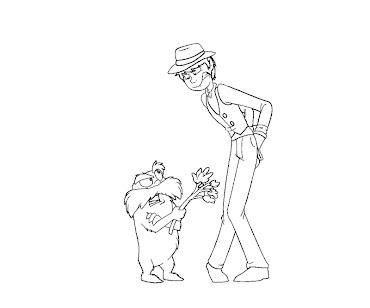 #13 The Lorax Coloring Page