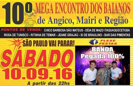 10º Mega Encontro dos Baianos, em São Paulo