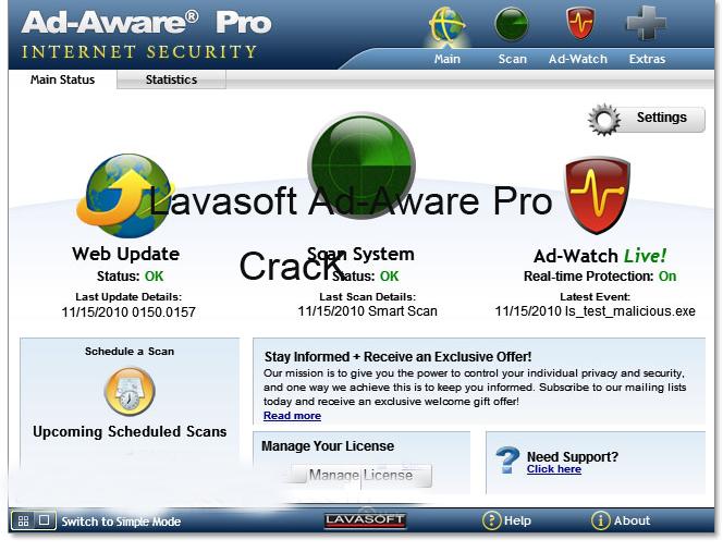 Lavasoft Ad-Aware Pro Internet Security 2015 Crack License Key Keygen Download