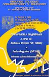 Cartel para invitar a los ponentes