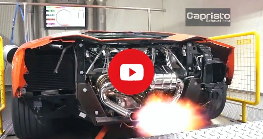 Lamborghini Aventador avec Capristo échappement