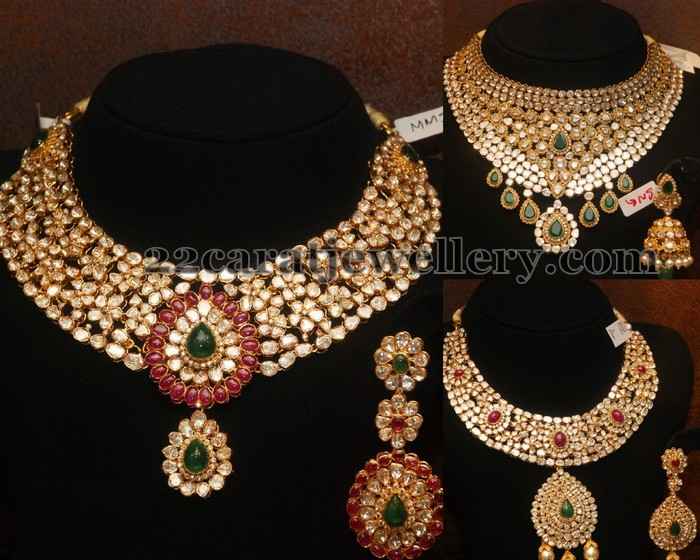of uncut necklace ruby diamond jewellery pratibha with emralds lakshmi picture