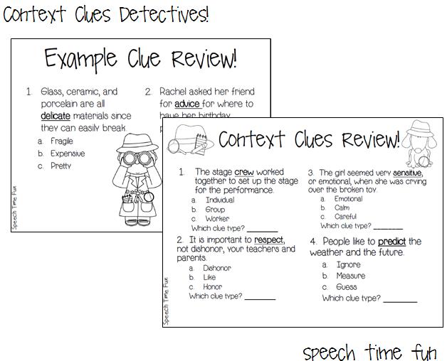 Context Clues Detectives – Using Context Clues Worksheets