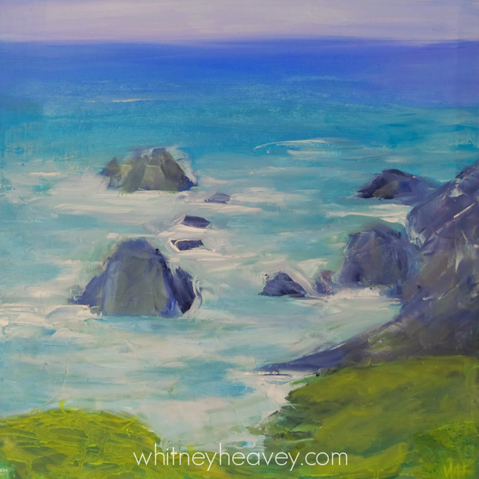 Pacific Ocean oil painting by Whitney Heavey