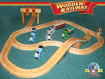 Island of Sodor wooden railway Thomas and his friends Spencer the tank engine Edward the Great Set