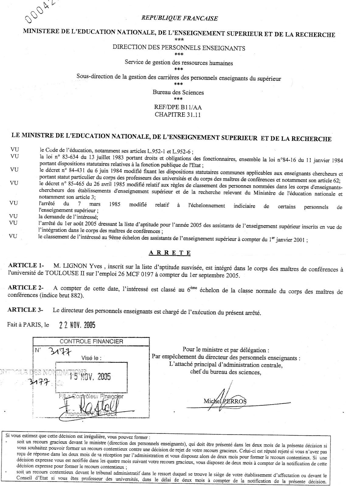 Millenaire le blog de richard d nolane censure - Grille indiciaire maitre de conference ...