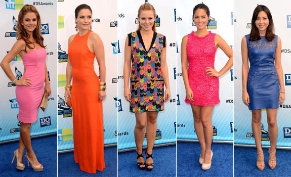 Maria Menounos In Gomez Gracia// Sophia Bush In Olcay Gulsen// Kristen