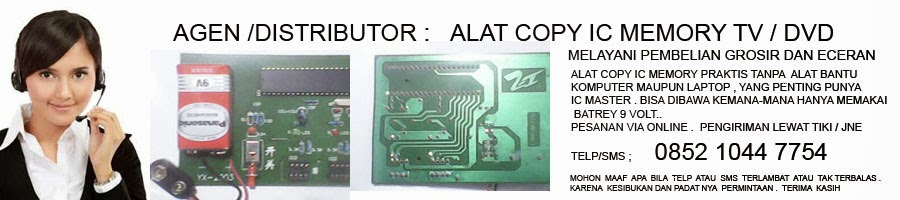 alat copy IC memory tv dan DVD