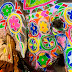 Elephant Colored in Colors of Holi Festival 2014
