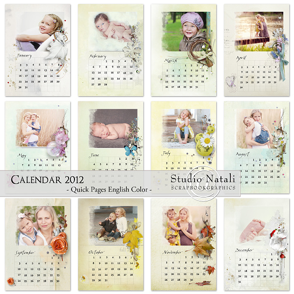 Как сделать календарь на месяц своими руками