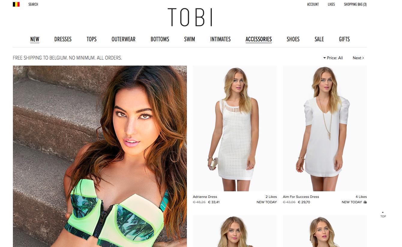 fashion webshop tobi.com
