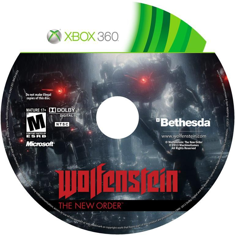 Label Wolfenstein The New Order Xbox 360