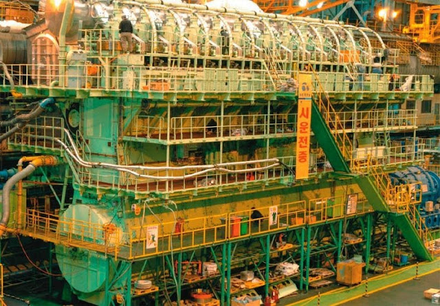 Mesin Diesel Paling Besar dan Paling Kuat di Dunia