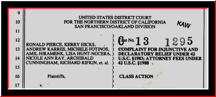 United States District Court Eastern District of California – Sacramento Federal Court – United States Courts - Judge William Shubb - Judge Edmund Brennan - Judge Garland Burrell Jr - Judge Carolyn Delaney - Judge Morrison England Jr - Judge Gregory Hollows - Judge John Mendez - Judge Kendall Newman - Judge Troy Nunley - Judge Allison Claire - Judge Dale Drozd - Judge Lawrence Karlton - Judge Kimberly Mueller – Office of the United States Attorneys Benjamin B. Wagner Eastern District of California, Hon. Robert C. Hight – Hon. Bunmi O. Awoniyi – Hon. Steven M. Gevercer – Hon. Tami R. Bogert – Hon. James M. Mize – Vance Raye - CJP Victoria B. Henley – Hon. Thadd A. Blizzard -Justice Cantil Sakauye Supreme Court of California - Judge Jaime Roman - Family Court Sacramento - Chris Volkers Court Executive Officer - Steven Jahr Administrative Director of the Courts – Judicial Council and Court Leadership Services Division Jody Patel Chief of Staff – Judicial and Court Operations Services Division Curtis L. Child Chief Operating Officer – Judicial and Court Administrative Services Division Curt Soderlund Chief Administrative Officer - Kamala Harris Attorney General - Director Victoria Henley Chief Counsel CJP - Bureau of State Audits Elaine Howle State Auditor - Melinda Haag US Attorney - Benjamin Wagner US Attorney - Chief Trial Counsel Jayne Kim California State Bar