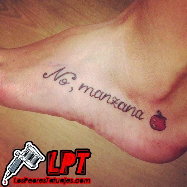 """Tatuaje """"No, manzana"""""""