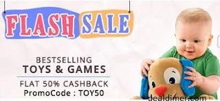 Bestselling Toys @ Flat 50% cashback