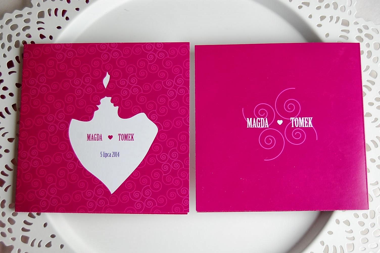 indywidualne projekty zaproszeń ślubnych