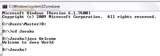 Program Hello World dengan Java
