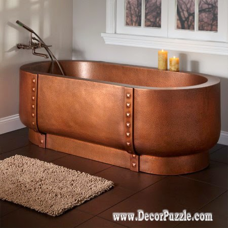 luxury bathtubs for modern bathroom, luxury copper bathtub designs