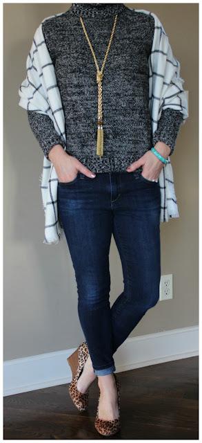 Merona Turtleneck Sweater - only $12, regular $25! // Merona Scarf // Joe's Jeans // Jessica Simpson Wedge Heels (similar) // Purple Peridot Necklace // Nordstrom Bracelet (similar)