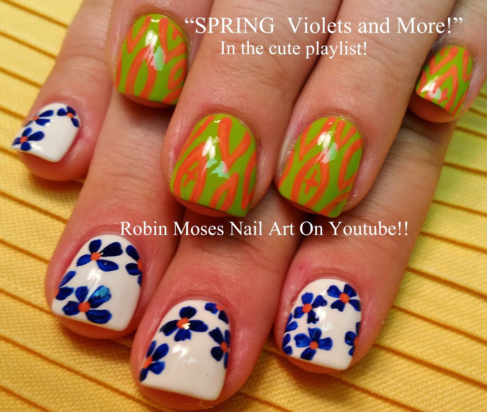 "Robin Moses Nail Art February 2015: Robin Moses Nail Art: ""flower Nails"" ""flower Nail Art"