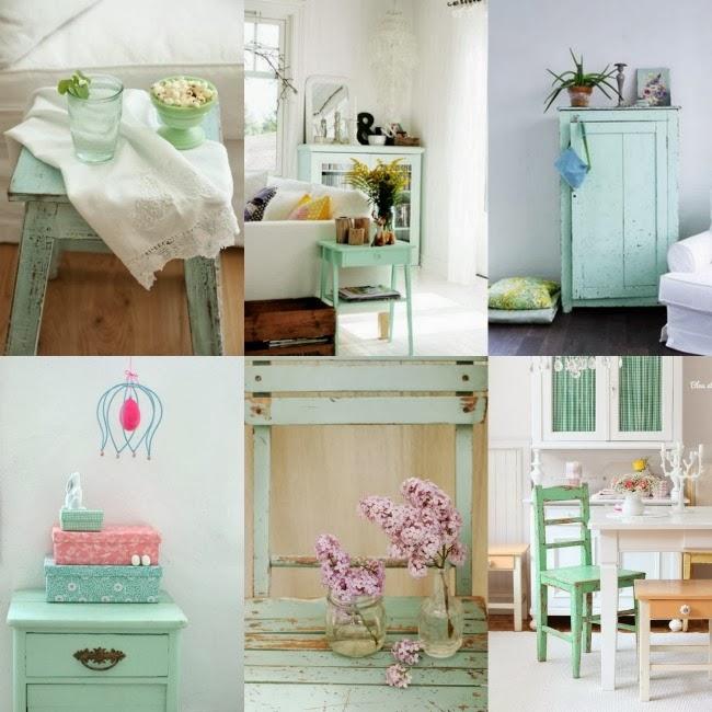 Aire vintage al mobiliario con pintura