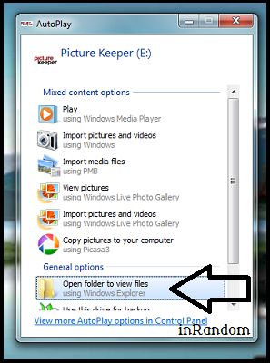 using the picture keeper step 1