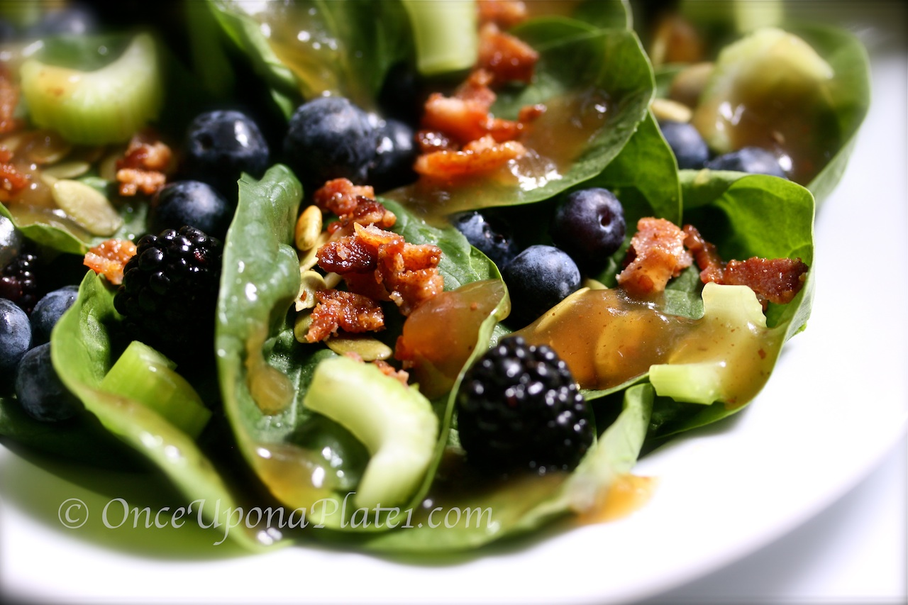 Once Upon A Plate The Recipes Warm Bacon Salad Dressing