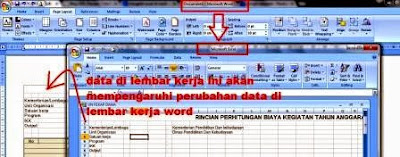 gambar excel link to word