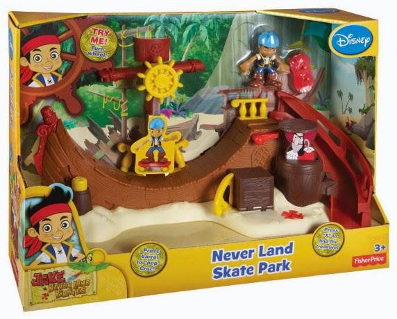 JUGUETES - Fisher-Price  DISNEY Jake y los Piratas de Nunca Jamás  Parque de skate de Nunca Jamás  Producto Oficial | Mattel | A partir de 3 años