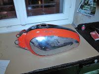Tank Ducati Scrambler 350 Seitenansicht