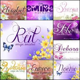 Nombres Biblicos para mujer y su significado.
