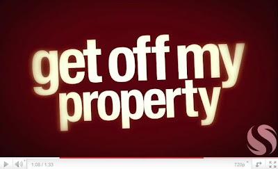 Get of my property, saddleback