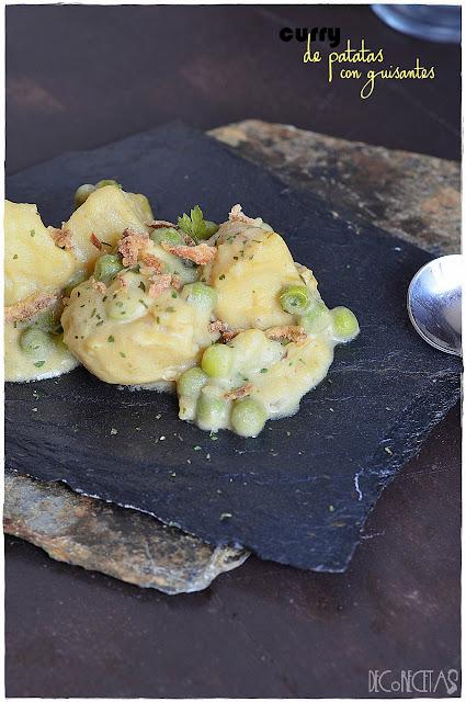 curry de patatas con guisantes