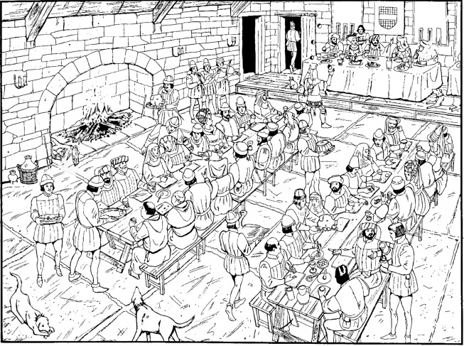 medieval feast coloring pages - photo#4