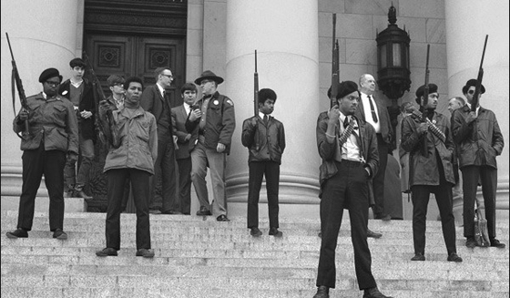 Black Panthers: As it did in the past, white supremacy is forcing blacks into armed resistance mode. When blacks started brandishing arms in public in the 1960s white lawmakers responded with strict gun control laws. When blacks returned to non-militancy during the post-Civil Rights era, white lawmakers began pushing for laws that allowed US citizens to be armed to the teeth in public again.