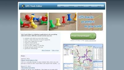 GPS Track Editor, Map