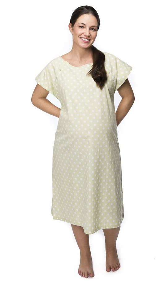 Adorable Hospital Gowns for Labor & Delivery and More | Yvonne Moss
