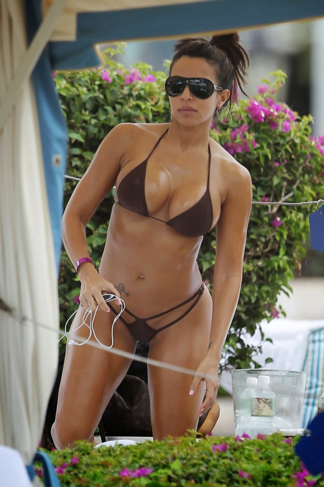 DRAGON: Vida Guerra in Bikini at a Pool in Hawaii
